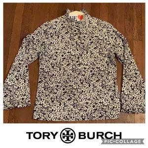 Tory Burch Floral Ruffle Sleeve Shirt 12